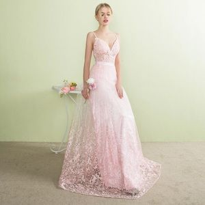 Blush Pink Lace Gown *COMING SOON*
